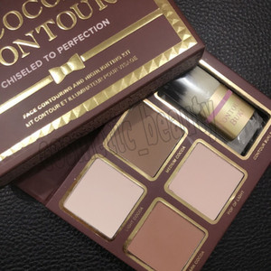 Nuovo trucco COCOA Contour Kit 4 colori Bronzers Evidenziatori Powder Palette Nude Color Shimmer Stick Cosmetics Chocolate Eyeshadow with Brush
