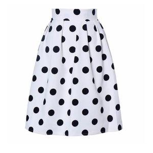 2019 KLV Apparel women skirt 90's Vintage short skirt Summer Autumn Bodycon Polka Dot Umbrella Retro Puff Skirts 5.7