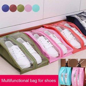 Сумки Дешевые хранения Портативный Путешествия Поставки Организатора обувь для хранения сумка ПВХ водонепроницаемый пылезащитный висячие Сохранить гардероб стойку Вешалки J2Y