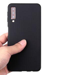 Tampa de borracha doces cores Magro Matte fosco suave TPU Gel Capa de silicone para Samsung Galaxy A01 A21 A51 A71 A81 A91 A80 A90 A10S A20S A70S