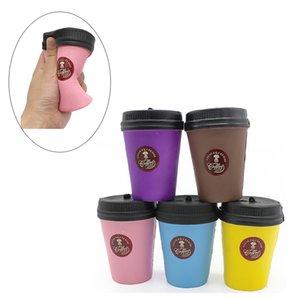Squishy Squishy Cup de Kawaii Corful Coffee Cup Jouets Squishies queeze Vent Cup Simulation Téléphone Charms Bracelets de téléphone Livraison gratuite