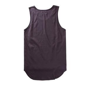 Твердая Страх Божий Tank Tops Justin Bieber Серый Белый хлопок Повседневный рукавов футболки мужские Hip-Hop скейтборд Страх Божий Tank Tops Men Vest
