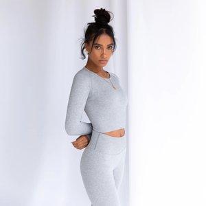 Autumn Sportwear Clothing 2pcs Tracksuits Designer 2pcs Gymshark Sports Suit Fitness Bra Outfits Sports Leggings Outdoor Yoga Pants Sol Omht