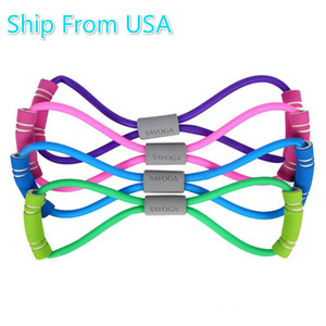 DHL Im Lager USA 8 Wort Resistance Bands Fitness Gummi LOOP-Latex-Widerstand Fitness Stretch Yoga Training Cross Elastic Band FY8006