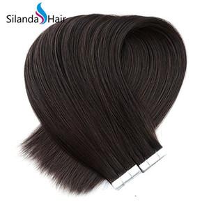 Dark Brown # 2 Straight Tape Real Remy Human Hair Extensions В 20 шт / уп Бесплатная доставка