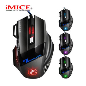 iMICE X7 Wired Gaming Mouse 7 Botões Mice 2400dpi LED óptico com fio Cabo Gamer computador para PC Laptop