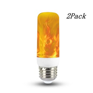 2Pack LED E27 Chama Luz, Lâmpada LED piscando Chama, 3W 40 Leves 2835 Beads simulados Luzes decorativas para Família, Jardim, Festa, Bar