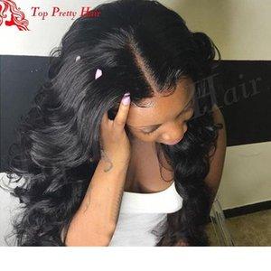 Designer capelli dell'onda del corpo Lace Front wigs wigss candeggiati Nodi Glueless dell'onda del corpo di Lacefront poco costoso dei capelli umani per Bl