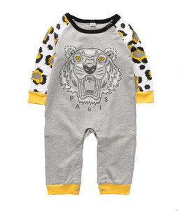 Primavera verano bebés niños niñas mamelucos diseñador niños de algodón de manga larga monos niñas niño ropa
