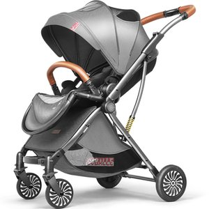 High landscape baby stroller 2 in 1 light stroller folding two way pram portable newborn carriage umbrella kid car free shipping