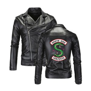 Riverdale Giacche in pelle Uomo Southside Serpents Colletto rovesciato Riverdale Streetwear Pelle serpent side brand south