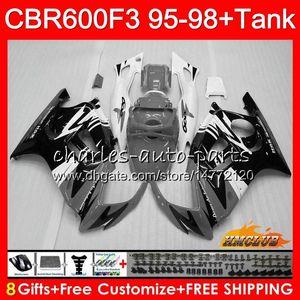 + Tanque para HONDA CBR 600F3 CBR600FS 600cc 97 98 1997 1998 gris brillante carenado 41NO.311 CBR600 F3 CBR 600 F3 FS CBR600F3 95 96 1995 1996 Kit