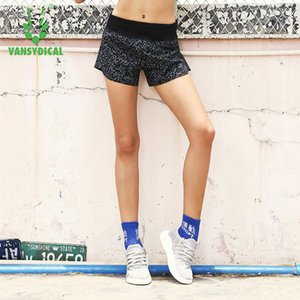 Vansydical Printed Yoga Shorts Womens Running Entrenamiento Shorts deportivos Elastic Waist Fitness Workout