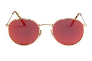 full frame 100% fashion condução resistente aos raios UV com óculos de armação ao ar livre marca redonda óculos de sol Mulher polarizada estilo e moda ret aviato