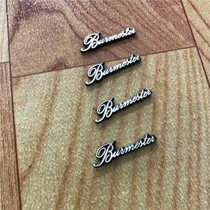 Áudio Speaker barato Adesivos 4X Burmester adesivos Etiqueta do carro estilo interior acessórios de decoração 29X8MM
