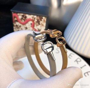 2019 star with the same horseshoe buckle bracelet fashion couple men and women horseshoe buckle bracelet gift wild