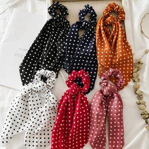 Women Ponytail Hair Ties Scarf Elastic Rope for Women Hair Bow Ties Scrunchies Hair Bands Flower Print Ribbon Hairbands