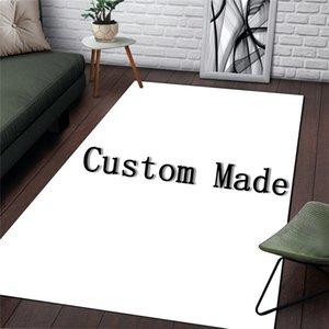 거실 침실 지역 양탄자 맞춤 패션 3D 인쇄 로고 휴대품 보관소 바닥 매트 럭셔리 홈 인테리어 러그에 대한 북유럽 트렌드 브랜드 카펫