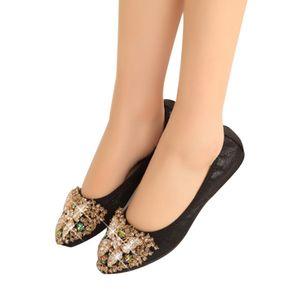 Designer Crystal Woman Flat Shoes Elegant Comfortable Lady Fashion Rhinestone Women Soft Bees Shoes Plus Size 35-45