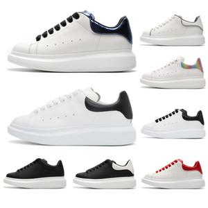 2020 zapatos de calidad superior ocasionales del cuero genuino las zapatillas de deporte para hombre de las mujeres de moda entrenador blanco plataforma de los zapatos de cuero plano de Chaussures SIZE36-45
