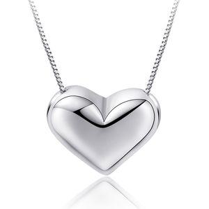 Box Corto Color plata romántico del corazón del amor de las señoras de los collares pendientes de la joyería del partido de la novia Cadenas Mujer Mujeres Regalo Sin Fundido K112