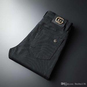 Yeni chun xia yüksek kaliteli mal erkek eğilim eğlence düz tüp pantolon erkek ve hep birlikte gidip kadın siyah uzun jeanlerdir