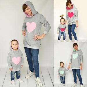 어머니 키즈 셔츠 의상 엄마와 나 여성 엄마 딸 아들 운동복 의류 가족 매칭 스웨터면 사랑 의류