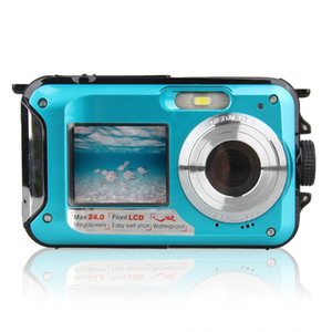 2.7 TFT Su geçirmez Dijital Kamera Full HD Sualtı Kamera 24 MP Video Kaydedici Selfie'nin İkili Ekran DV Kayıt Kamera r25