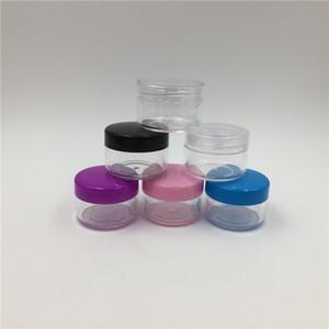 100pcs de Jar Effacer crème avec Clear Couvercles, 15ml Petit PS boîte en plastique, ongles Glitter Cream Pot