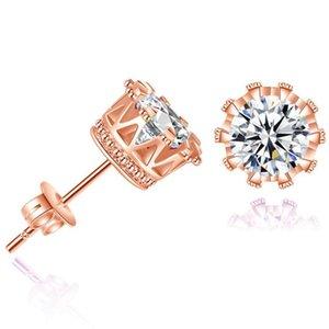 CZ orecchini donna earings stud orecchini gioielli moda unisex trendy uomini orecchini di cristallo corona piercing all'ingrosso regali