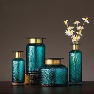 100٪ جديد الشمال الزجاج الشفاف الذهب مقعرة الأفعى زهرة زهرية غرفة زهرة ترتيب الزراعة المائية الديكور المنزلي