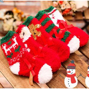5 Baby Style Garçons Filles Chaussettes hiver chaud pour bébé tout-petits enfants de Noël Père Noël doux socquettes