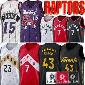 Toronto Pascal 43 Siakam Jersey Raptors de Vince Carter 15 7 Kyle Lowry 23 jerseys Fred New Jersey 2 VanVleet Kawhi jerseys deportivos