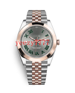 10 estilos de moda para hombre relojes 41mm maestra Datejust 126334 126333 126303 126301 Wimbledon línea gris relojes automáticos mecánicos romanos verdes