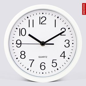 Mute Wall Clock Bedroom Mini Small Round Wall Clock Simple Creative Kitchen Time Living Room Metal Frame BB50WC