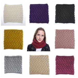 Sciarpa ragazze loop infinito Sciarpe inverno lavorato a maglia Wrap Twist Lana Sciarpa al collo Corchet Circle Snood Bandana Solid collare C6212 Knit Pashmina