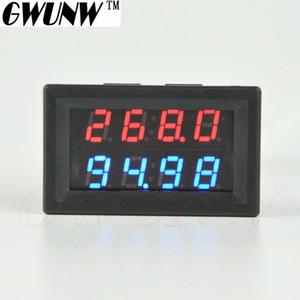 GWUNW BY42A 500V 100A DC 4 BIT Tensão Amperímetro Digital Current Tester Medidor voltímetro duplo Mostrar Azul Vermelho LED Verde