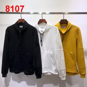 Mens Designer Sweater Cotton Luxo Turtle Neck Natal Sweater Men manga comprida Hoodies Hip Hop Moletons Brilhante Sweater # 8107 S-2XL