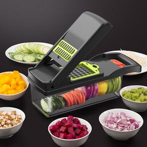 Cocina vegetal cortador multifuncional máquina de cortar mandolina jugo de patata Peeler Accesorios zanahoria rallador de cocina vegetal Herramienta