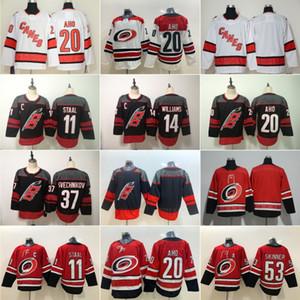 37 Andrei Svechnikov Hurricanes de la Caroline 20 Sebastian Aho Hockey Jersey 14 Justin Williams 53 Jeff Skinner 11 Staal Accueil RED Cousu