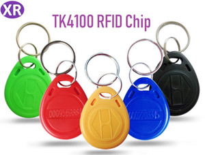 Número de cartão RFID 100pcs ID tag RFID 125KHz Proximidade Cor Azul Keyfobs Key Fob TK4100 EM4100 Access Control Smart Card Com ID Imprimir