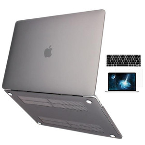 Gummiertes Mattes Etui Mit Bildschirmfolie Tastaturabdeckung für MacBook Air Pro 11 12 13-Zoll-Ganzkörper-Laptoptasche A1369 A1466 A1708 A1278 A1465