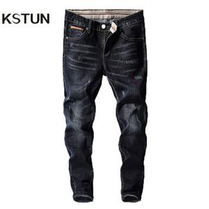 KSTUN Herren Jeans Hosen Denim Fashion Desinger Schwarz Blau Stretch Slim Fit Jeans für Herren Streetwear Cowboys Hiphop calca masculina