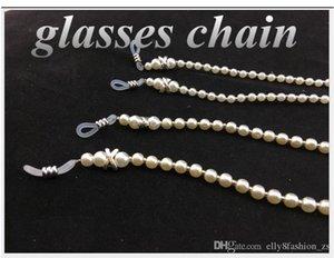 Хорошее качество противоскользящие цепи женщин очки очки COPY Pearl цепи Девушки Модные солнцезащитные очки Цепи Glasses ремешки