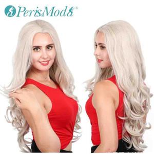 Synthetic Lace Front wigs parrucche bionde per capelli delle donne PerisModa Best Selling parte libera 613 ondulate lunghe sintetiche Lace Front