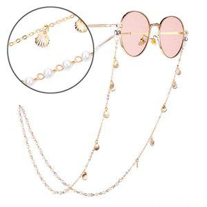 Yeni Kadın Zarif İnci Shell Diğer Moda Aksesuar antislip Zincir Gözlük Tutucu İpi kolye Güneş kolye Gözlük İpi