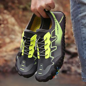 Летом вода обувь мужчин пляж сандалии Upstream Аква обувь Wome Quick Dry River Тапочки Дайвинг Плавательные носки Тенис оборудование Мужчина для