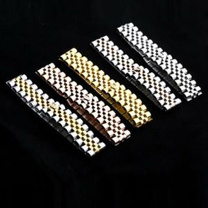 ZHF Schmuck Kette Kuba Armband Für Männer Modeschmuck Silber Kette Edelstahl Armband Einfache Glatte Link Schwere