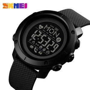SKMEI Smart Watch Mode-Sport-Mann-Uhr-Leben wasserdicht Bluetooth Magnetic Chargeing Elektronischer Kompass reloj 1512 INTELIGENT