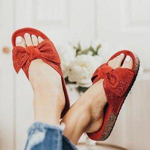 Slippers Women Slides Summer Bow Summer Sandals Slipper Indoor Outdoor Flip-flops Beach Female Floral Shoes Dropshipping